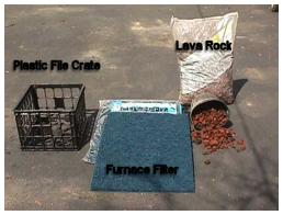 Materials for building the filter